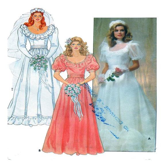 Bridal Gown Wedding Dress Butterick 4765 Sewing Pattern