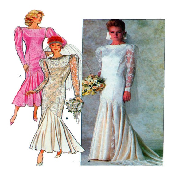 Butterick 4415 Bridal /Wedding Gown Fit Flare Mermaid | Etsy