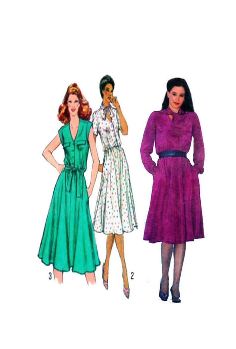0899081b7f616 Women, Shirtwaist Dress, Sewing Pattern, Simplicity 9597, Button Front,  Full Circle Skirt, Cap Sleeve, Sundress, Long Sleeve, Size 12, UNCUT