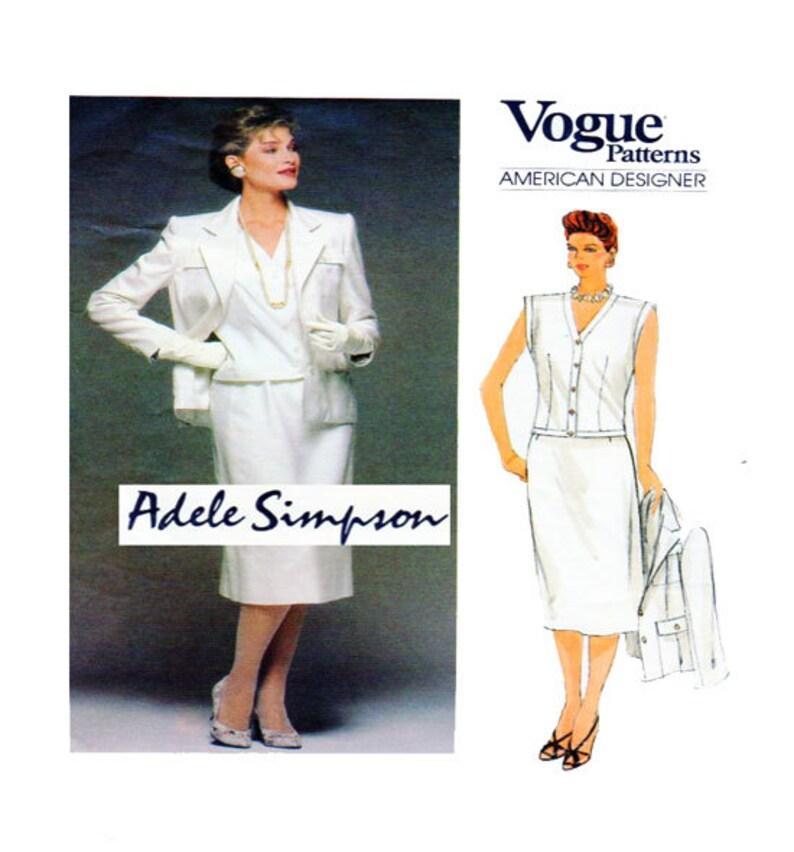 3a8ee3c43698 ADELE SIMPSON donna vestito firmato Vogue 1504 Semi