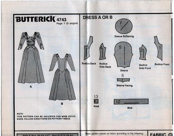 Brautkleid Brautkleid Butt 4765 Schnittmuster runder | Etsy