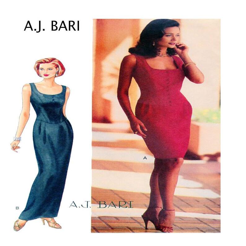 7307f2adcbc A.J. Bari Butterick 4031 Designer Evening Gown Cocktail