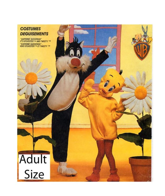 Vintage 80/'s McCall/'s  #P943  Sewing Pattern Adult Sylvester and Tweety Bird Costume/'s Adult Chest 36-38