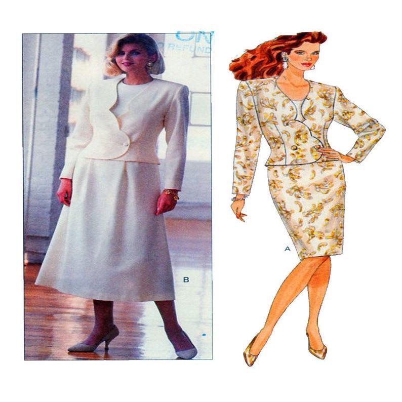 b4e04c114aef Womens vestito cartamodello Butterick 4467 Scallop Edge