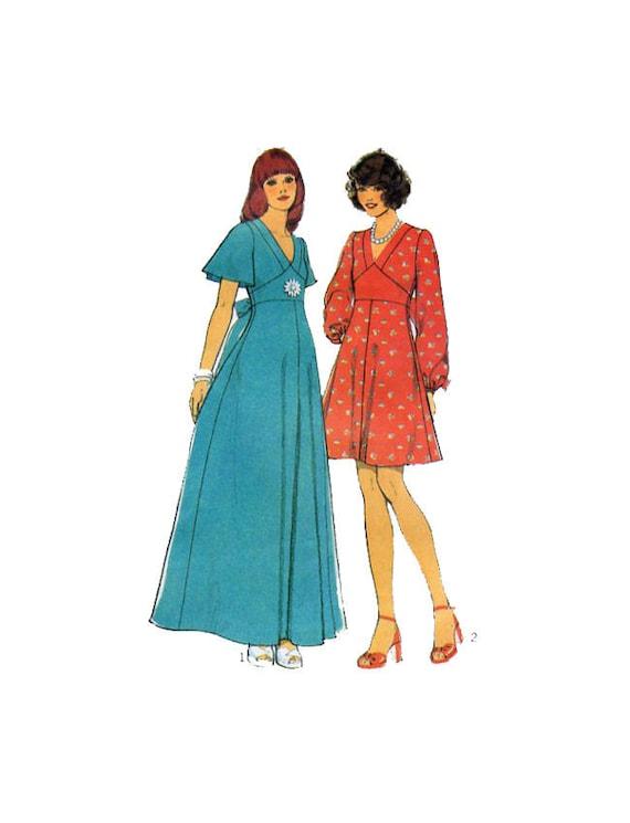 24a2fdb317c6 Style 4486 Day Dress Maxi Dress 70s Retro Style Boho