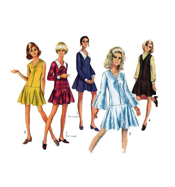 Einfachheit 8287 60er Jahre Mod-Kleid Schnittmuster Drop | Etsy
