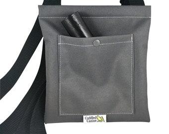 Dog Poop Holder - Holds Poop Rolls and Full Bags Inside