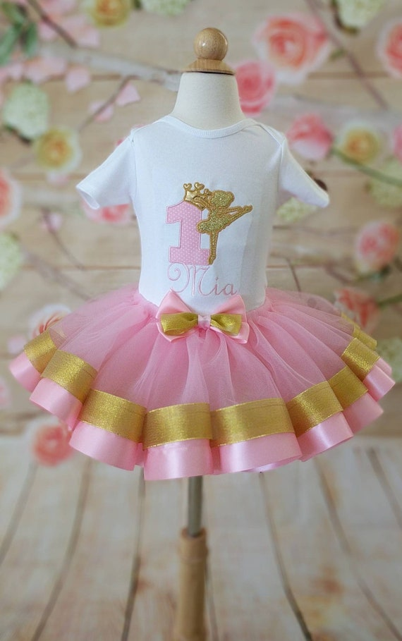 Ballerina Birthday Outfit First Birthday Outfit Gold And Etsy
