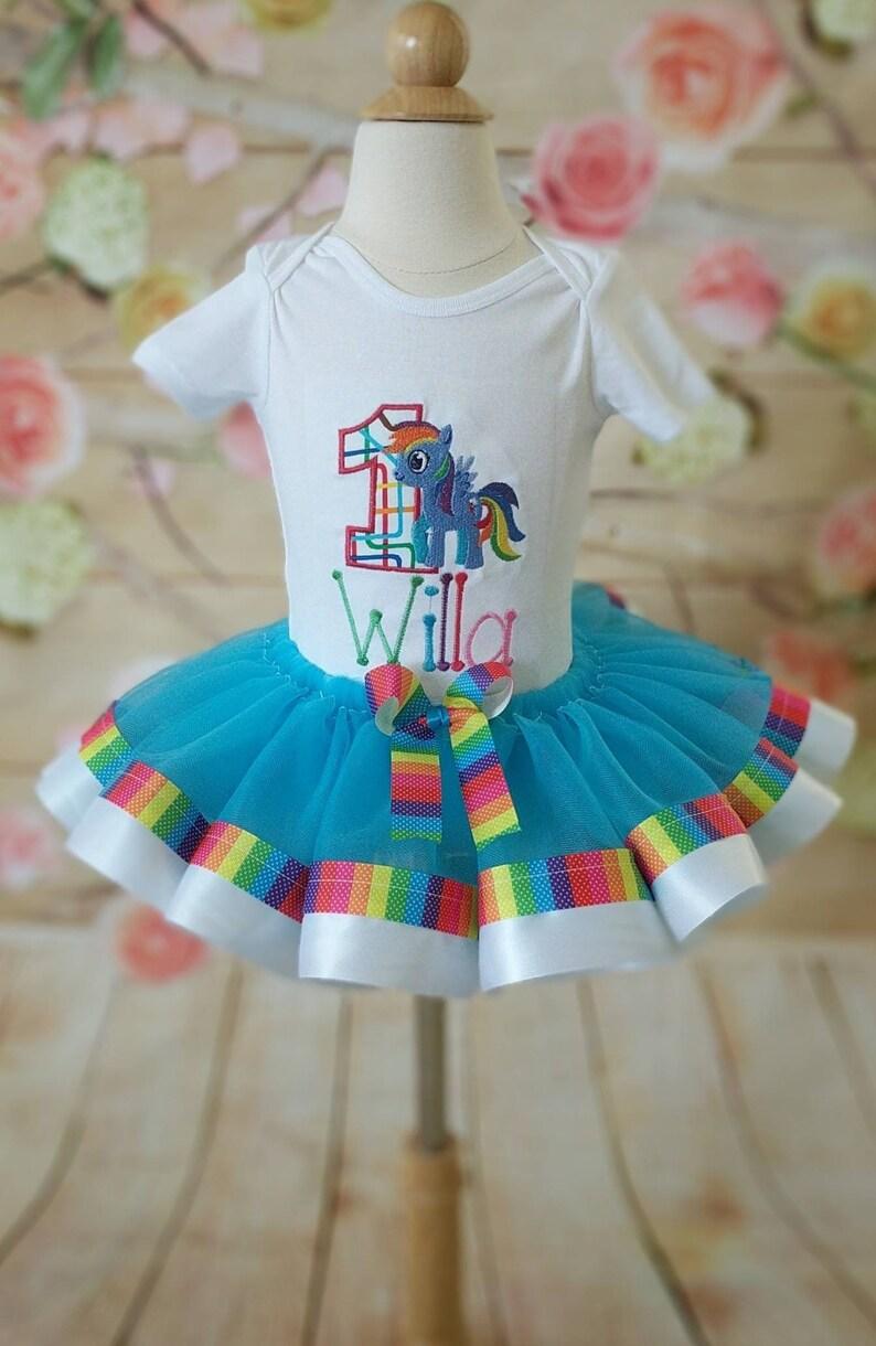 a1af5900ae734 My Little Pony birthday outfit Rainbow Dash tutu set My | Etsy