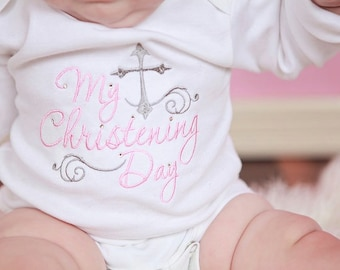 After Christening Outfit-Christening Shirt-After Baptism Outfit-Baptism After Party-Christening After Party-Christening Day Shirt-Baby-Girl