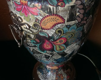 SOLD Decoupage Lamp ON HOLD