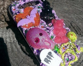 Samsung Galaxy S3 Halloween Spooky Rat Infested Candy Purple Whipped Decoden Case