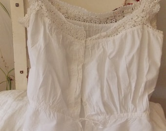 Vintage Cotton and Lace Camisole