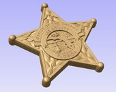 New Design Custom Lee County Sheriff Florida Personalized Badge 3D V Carved Wood Sign