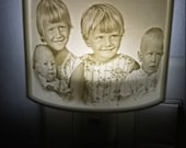 Custom Personalized 3d printed Lithophane picture night light