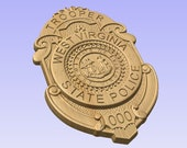 NEW design!! - Custom West Virginia State Police Badge  - Personalized Badge 3D V Carved Wood Sign
