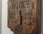 Custom Personalized ( add text of your choice) #Bar #ManCave Sign V Carved Wood Sign