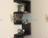 Special Purchase for Ashley Espinoza - Handmade Zig Zag Rounded Front Corner Shelf