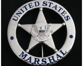 United States Marshall Badge Wood 3D Carved