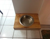 Unique Handmade Floating Dog Dish with a 2 qt Stainless Steel dish