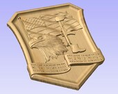 3D V CARVED - Home of the Free Because of the Brave V Carved Wood Sign