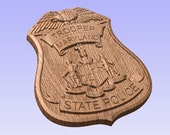 3D V CARVED - Personalized Maryland State Police Badge V Carved Wood Sign
