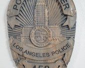 New Improved Design!! LAPD - Los Angeles Police Personalized Police Badge 3D V Carved Wood Sign
