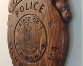 Richmond Police Officer Badge - 3D V CARVED - Personalized Police Badge V Carved Wood Sign