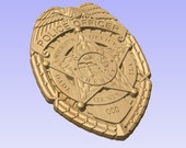 Custom Miami Dade Sheriff Badge  - Personalized Badge 3D V Carved Wood Sign