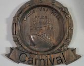 NEW!! Cruise Plaque 3D V Carved Wood Plaque Sign