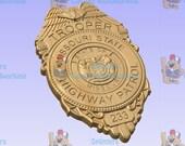 NEW Improved design!! - Custom Missouri Highway Patrol Trooper Police Badge  - Personalized Badge 3D V Carved Wood Sign