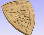 Mississippi State Police Highway Patrol- 3D V CARVED - Personalized Police Patch V Carved Wood Sign