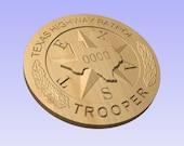 3D V CARVED - Personalized Texas Highway Patrol State Trooper Police Badge V Carved Wood Sign