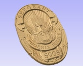 Custom  Phoenix Trooper Sergeant Badge 3D V Carved Wood Sign