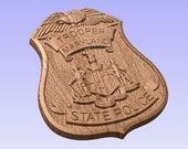 3D V CARVED - Personalized Maryland State Police Badge V Carved Wood Sign