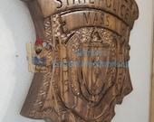 3D V CARVED - Personalized Massachusetts State Police Trooper Badge V Carved Wood Sign
