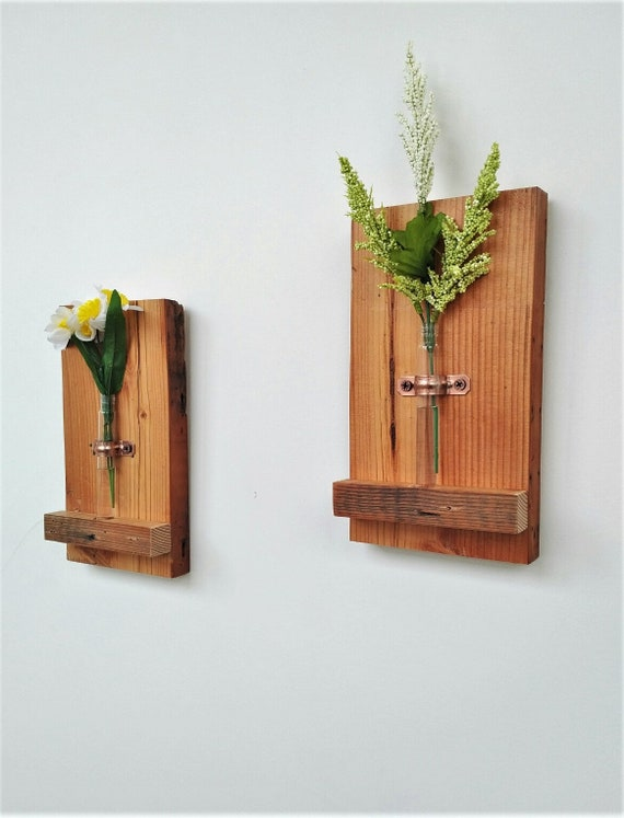 Wall Mounted Flower Vase And Reed Diffuser Mini Flower Etsy