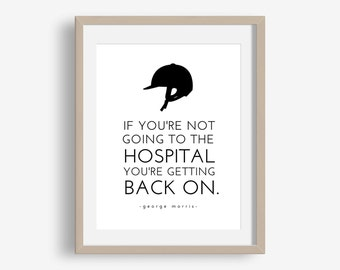 Get Back On - funny instant download typographic word art, horseback riding, equestrian, george morris, quote, hunter/jumper