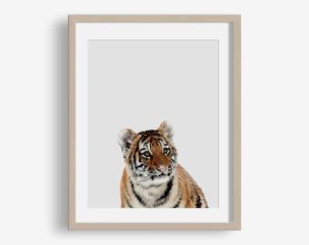 Tiger Print - animal printable, safari, modern, minimalist print, printable photography, jungle, photo, nursery art printable, tiger print