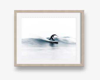 Surfer - Fine art print, printable fine art, download, instant art, surfing, ocean printable, ocean print, surfer print, surfing art, waves