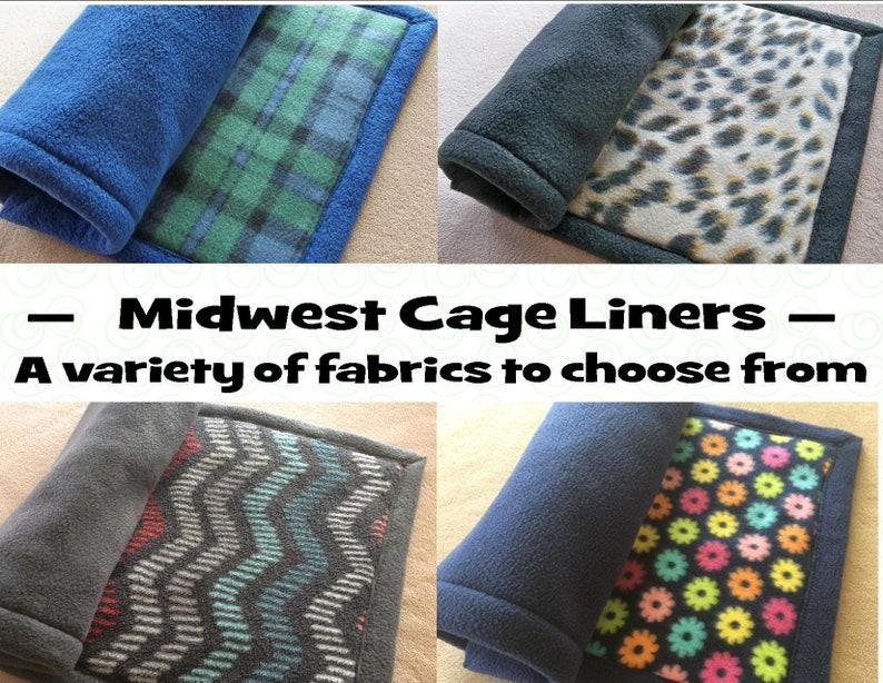 Midwest cage liner Guinea pig fleece cage liner Rabbit cage image 0