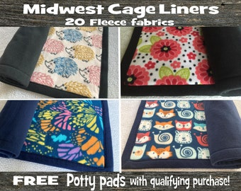 TOP QUALITY Midwest cage liners!! | Guinea pig fleece liner | FREE potty pads with purchase of 2 liners | Hedgehog or rabbit mat or bedding