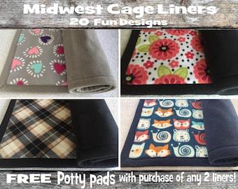 Plush & absorbent Midwest cage liner | Guinea pig fleece liner | Hedgehog fleece bedding | Rabbit fleece mat | Absorbent fleece cage liner