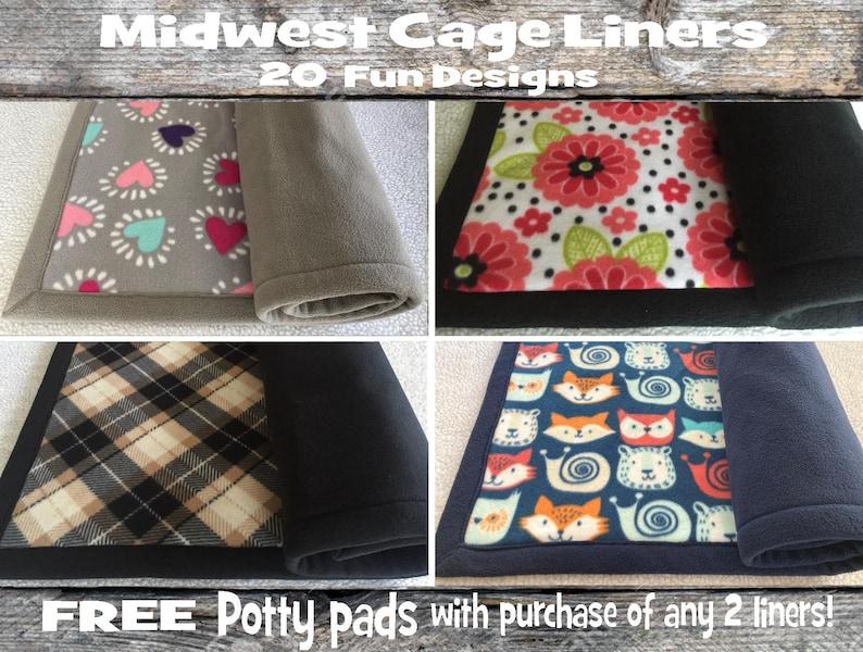 Plush & absorbent Midwest cage liner  Guinea pig fleece liner image 1