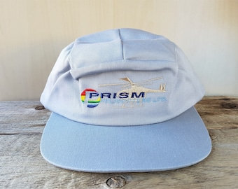 e40eba806a616 PRISM HELICOPTERS Ltd. Defunct Original Vintage Embroidered 5 Panel  Snapback Hat Tristar Cap   Garment Obsolete Helicopter Co. Gray Ballcap