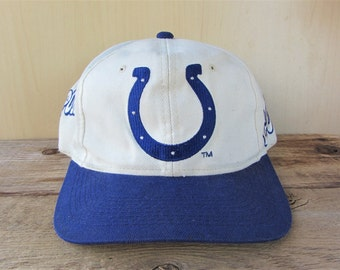 3ebd35c6f37dc Indianapolis COLTS Vintage 90s Sports Specialties Official NFL Snapback Hat  Used Baseball Cap Block Script Pro Line 2 Tone Football Ballcap