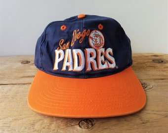 01eb28268 San Diego PADRES Vintage 90s Snapback Hat Official MLB Baseball Cap Annco  Genuine Merchandise Licensed Product Deadstock 2 Tone Ballcap