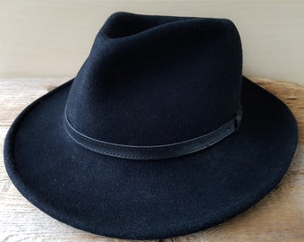 aedfc9489bec1 PENDLETON Pure Virgin Wool Vintage Hat Made in USA Outback Cowboy Ranch  Style Leather Accent Size X-Large American Made