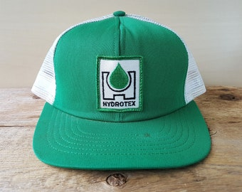 651ec99f605 Vintage HYDROTEX Green Swingster USA Trucker Hat Performance Lubricants Snapback  Mesh Baseball Cap Used Throwback Adjustable Ballcap