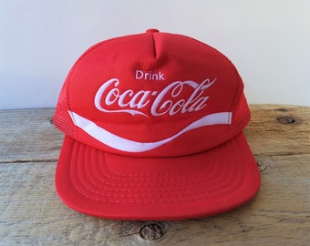 Coca-Cola Red Mesh Patches Baseball Cap Hat Embroidered Logo BRAND NEW